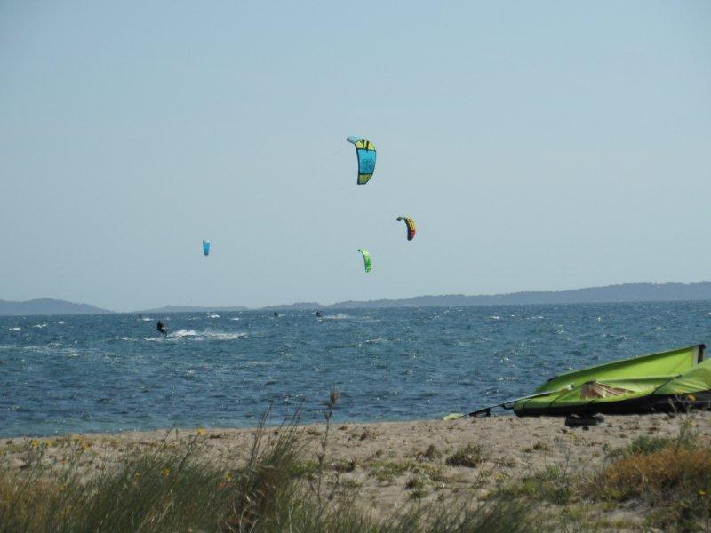 Kite surfers at les Salins