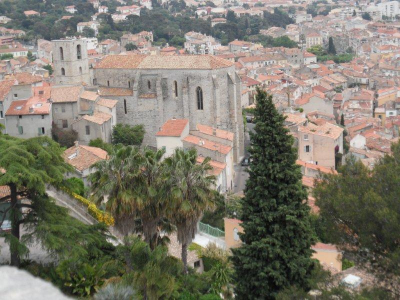 Old town of Hyères, provence, france