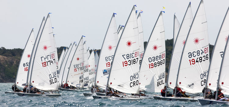 laser regatta in Hyères